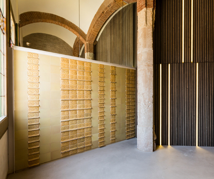 Tile of Spain Award honorable mention: restoration of the Administration Hall of the Sant Pau Art Nouveau Site by Joan Nogué Arbussa. Photo: Marcela Grassi and Robert Ramos.