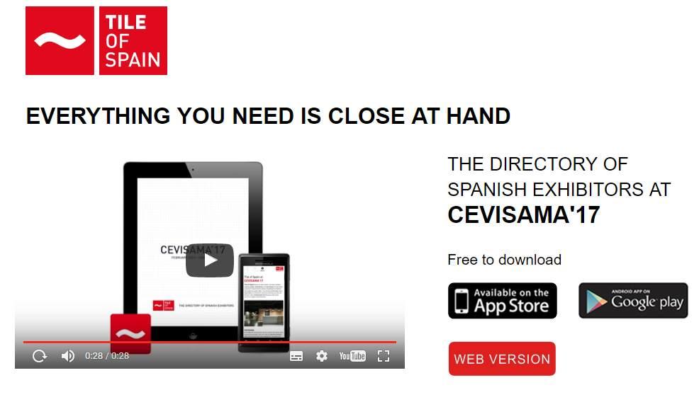 Cevisama 2017 app available from tile of spain for Tile planner app