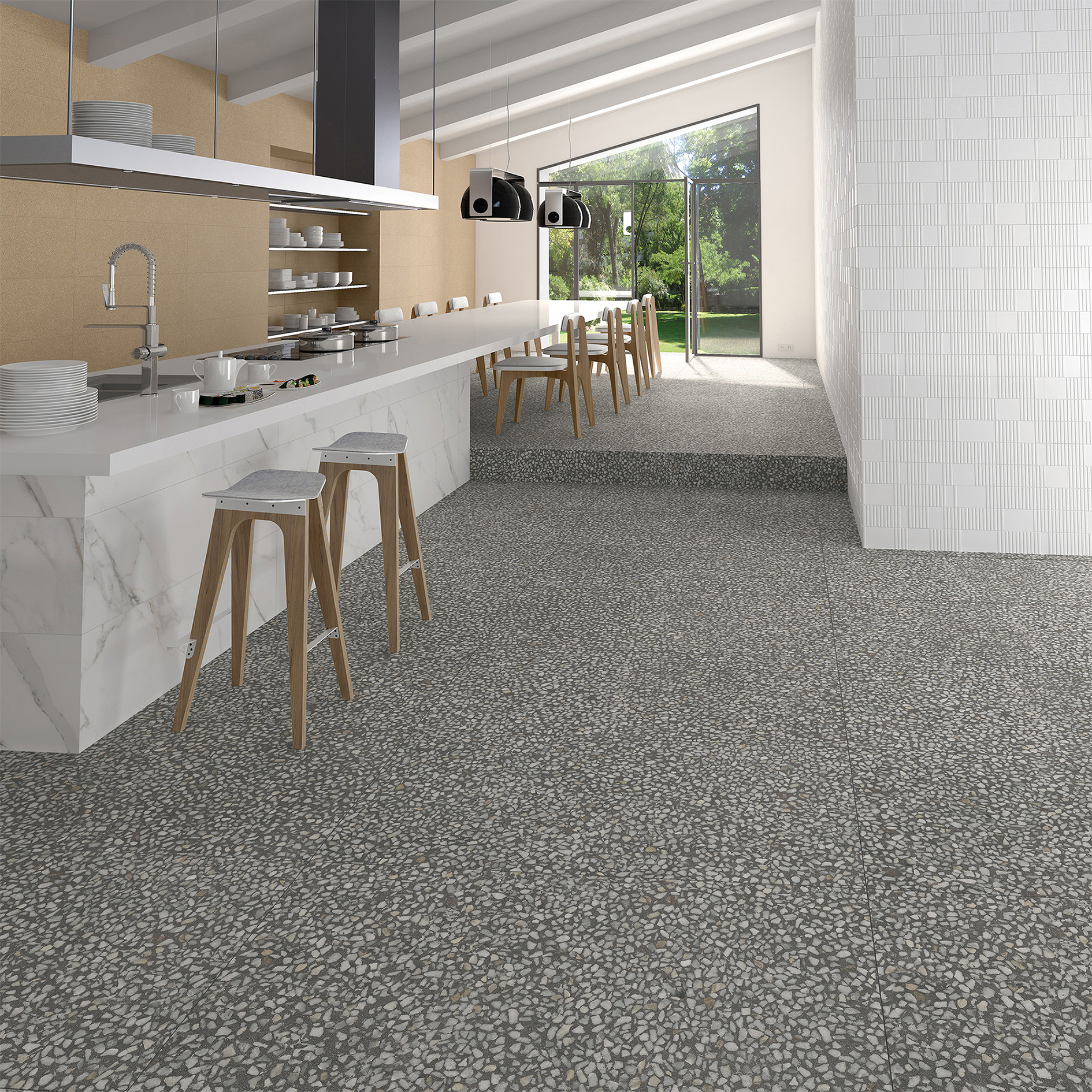 Piece By Piece The Terrazzo Look From Tile Of Spain Tile