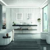 Marble Serpentino Collection from Tile of Spain company Roca Tile