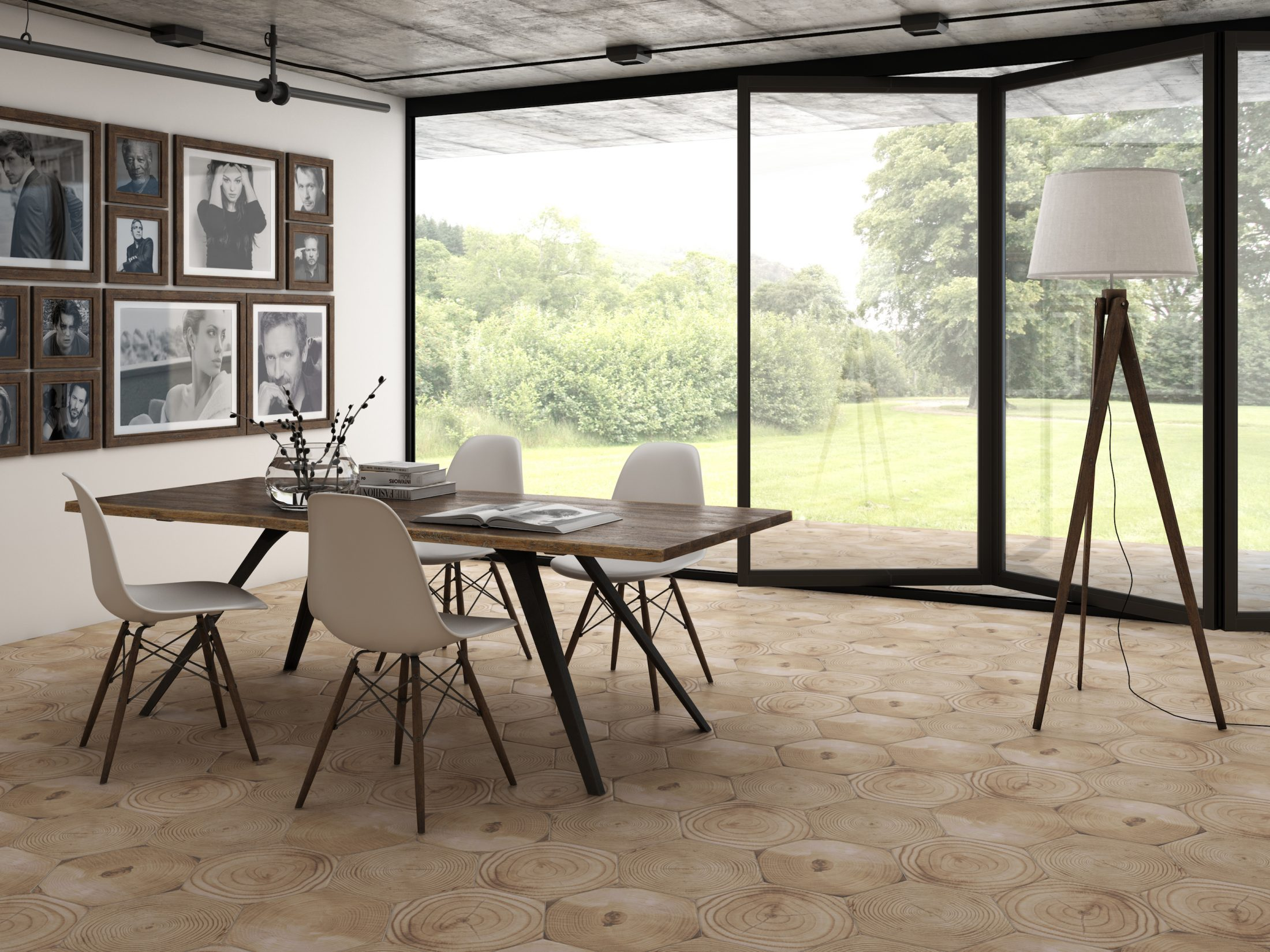 Ceranosa - Dacha Series. Porcelain hexagonal floor tiles (32x37cm).
