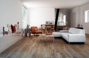 """Gayafores - Rovere Series. Ceramic floor tile in """"distressed wood planks"""" (8X26"""") In honeyed hues."""