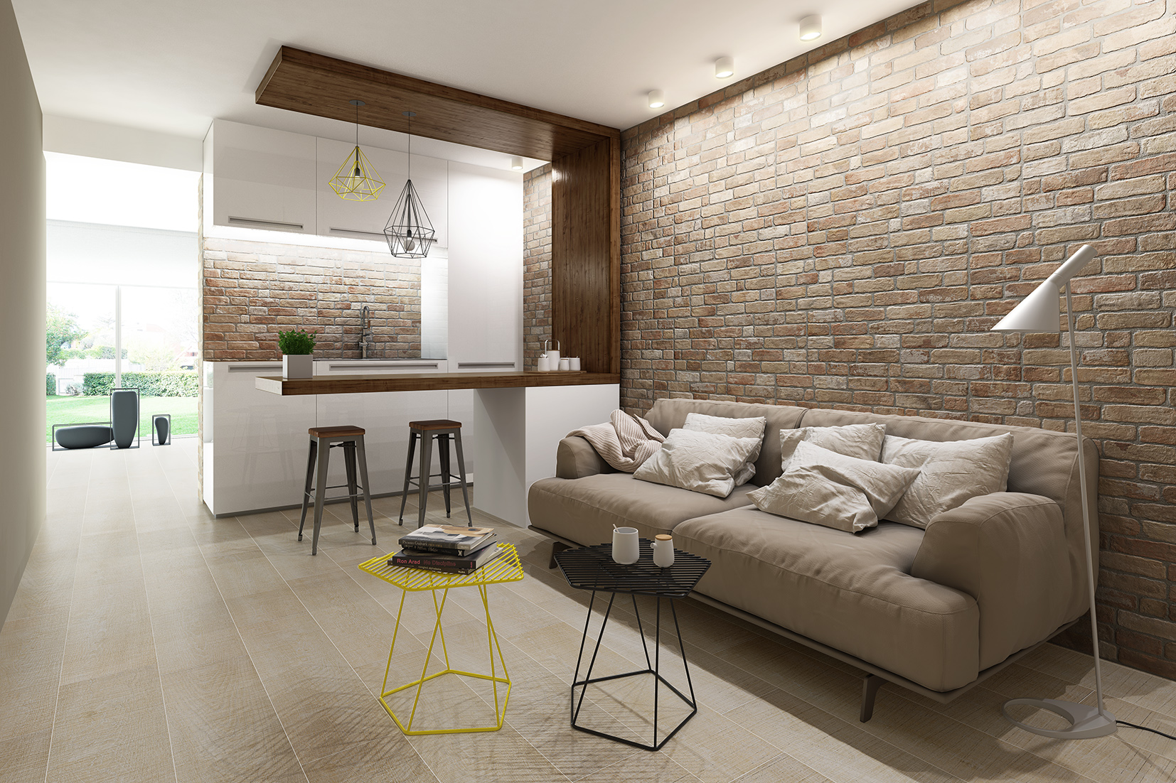 Keraben WALL_BRICK_COTTO_30X90_ARDENES_CREMA_100X24,8_SD
