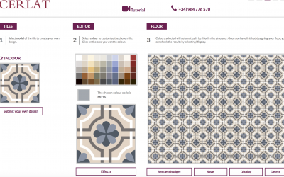 Visualization Technology and Digital Design Tools with Tile of Spain